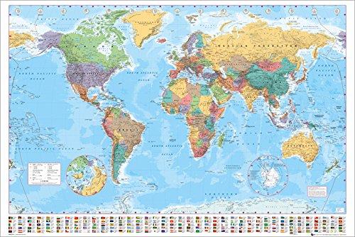 GB eye LTD, World Map, 2015, Maxi Poster, 61 x 91.5 cm, Wood, Multi-Colour