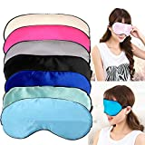 Jeeke Pure Silk Eye Mask Cute Expression Travel Sleep Mask for A Full Night's Sleep (Black, 19cmx8.5cm)