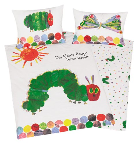 Herding 246001063 Baby Bed Sheets The Very Hungry Caterpillar 40 x 60 cm + 100/135 cm Linon Klaus Herding GmbH 2460001063