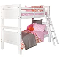 Powell D1028Y16W White Bunk Bed, Twin