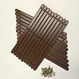 10 Pairs of Brown Plastic drawer runners with screws for furniture by Home Fittings