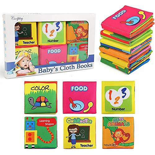 NEWSTYLE stoffen boeken baby, eerste babyboek zachte boek veilige niet-toxische stof baby stoffen boek educatief…