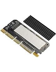 BEYIMEI NVME PCIe adapter, M.2 NVME SSD naar PCI Express adapter met koellichaam ondersteunt PCIe x4 x8 x16, ondersteunt M.2 M Key SSD 2230 2242 2260 2280