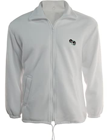 Evon Outfit Stormway Unisex to Fit Lawn Bowls Bowlswear Bowling Bowls Polar Fleece Jacket with Bowls Logo Bowling Jackets Lined Fleece Zip Jacket 3XL White