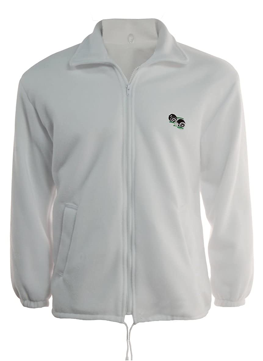 Bowls Lawn Bowling Unisex Zipper Polar Fleece Jacket with Logo