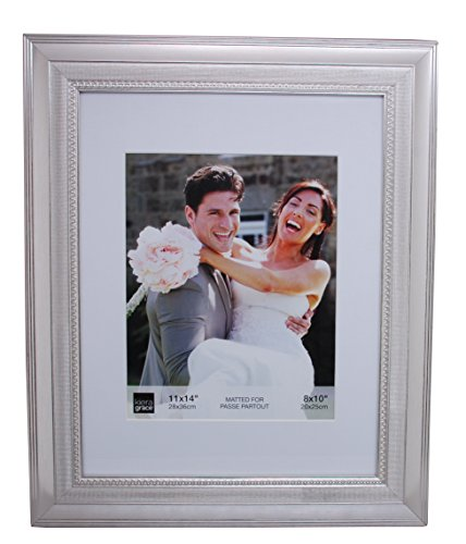 Kiera Grace Norah Picture Frame, 11 by 14-Inch Matted for 8 by 10-Inch Photo, Antique ()
