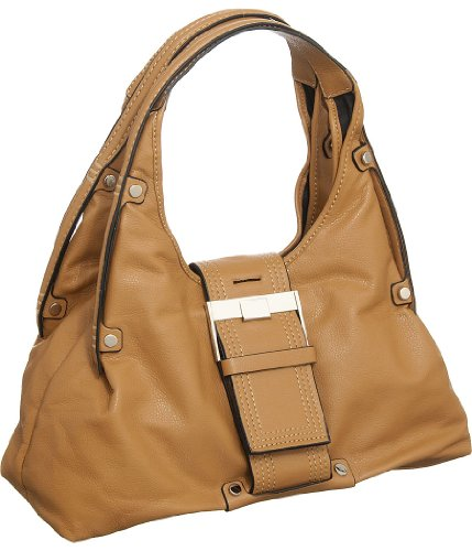 """Tan Large """"Stitched Belt"""" Hobo, Bags Central"""