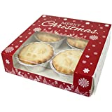 Premium Merry Christmas Snowflake Square Mince Pie Boxes 7x7x2 by Cater For You