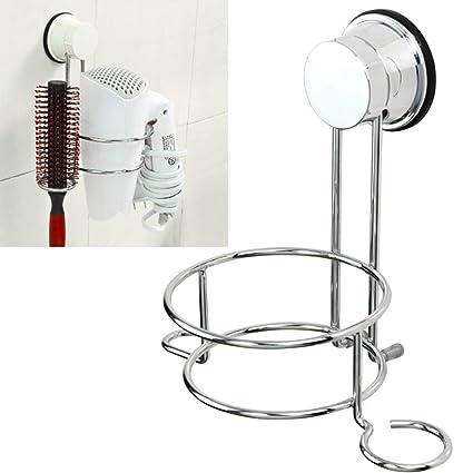 Soporte para secador de pelo, soporte para alisador de pelo de acero inoxidable para colgar
