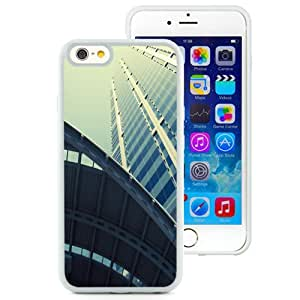 Fashionable Custom Designed iPhone 6 4.7 Inch TPU Phone Case With Tall Glass Building Look Up_White Phone Case