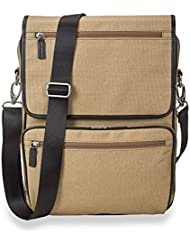 Levenger AM2390 TN Traveler Convertible Messenger Backpack, Tan
