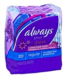 Always Thin Pantiliners - scented - 20 pack (case of 24)