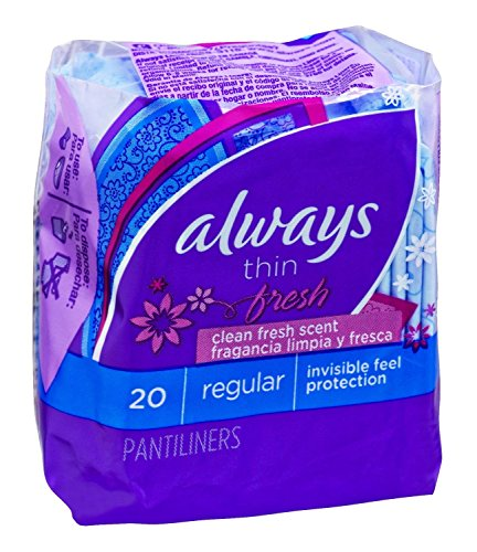 Always Thin Pantiliners - scented - 20 pack (case of 24) by Always (Image #1)