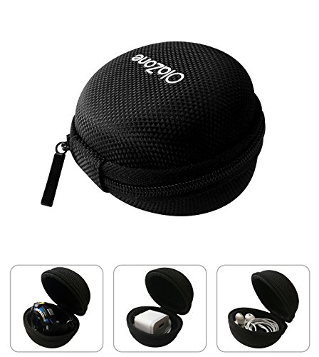 - Watch Travel Zipper Carrying Case Single Round Watch Box for Outdoor Fits to 51mm Black