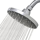 15.25cm Round Chrome Rainfall Shower Head Replacement | Ultimate Overhead Waterfall | High Pressure, High Flow for Your Bathroom RainLuxe