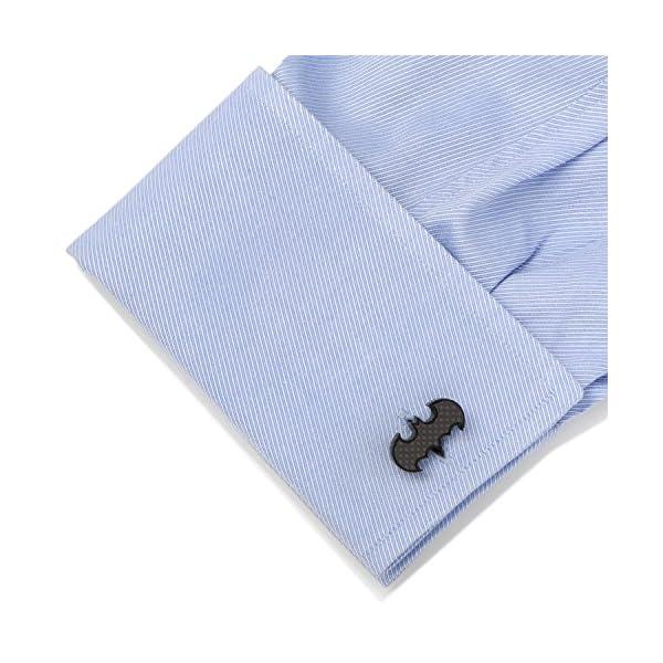 Cufflinks-Inc-Mens-Stainless-Steel-Carbon-Fiber-Batman-Cufflinks