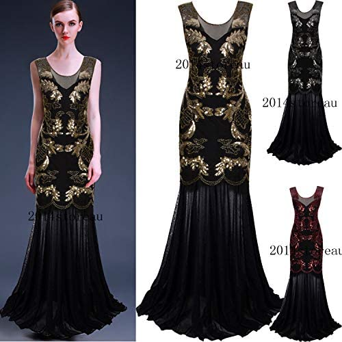 1920s Flapper Gatsby Cocktail Dress Evening Formal Party Dresses Wedding Gowns