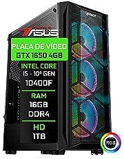Computador Gamer Fácil Asus Intel Core i5 10400f 10ª geração 4.30 Ghz 16GB DDR4 GTX 1650 4GB DDR6 HD 1 TB Fonte 500W