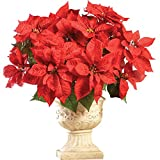 Poinsettia Bouquet Holiday Planter Picks - Set of 3, Red