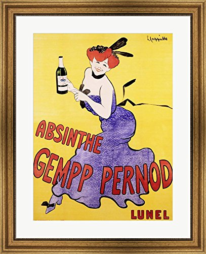 absinthe-gempp-pernod-1903-by-leonetto-cappiello-framed-art-print-wall-picture-wide-gold-frame-26-x-