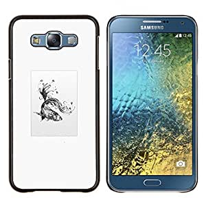 """Be-Star Único Patrón Plástico Duro Fundas Cover Cubre Hard Case Cover Para Samsung Galaxy E7 / SM-E700 ( Goldfish tribal"""" )"""
