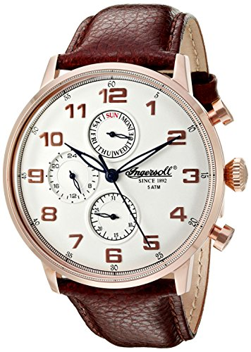 Ingersoll Men's INQ 037 SLRS Eaton Analog Display Japanese Quartz Brown Watch