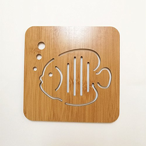 Didcant Carved Wooden Coaster / Dinner Decor, Perfect Design and Multi Patterns for Drink/Wine/Soup, Home / Office Centerpiece for Table - Fantastic Housewarming Gift ()