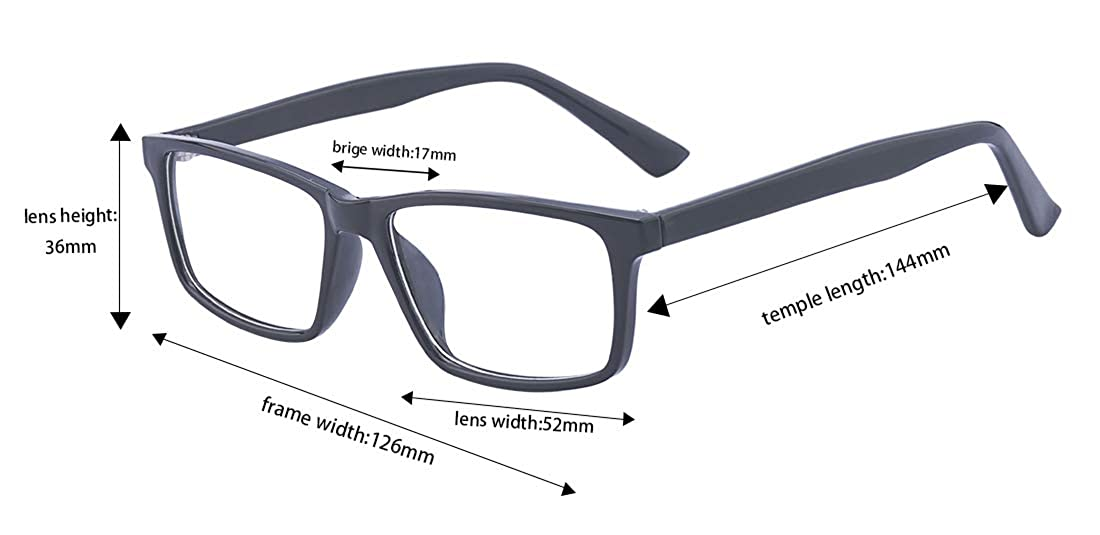 a12390ca1e Amazon.com  Outray Vintage Men s Plastic Fashion Clear Lens Glasses RX Optical  Frames  Clothing