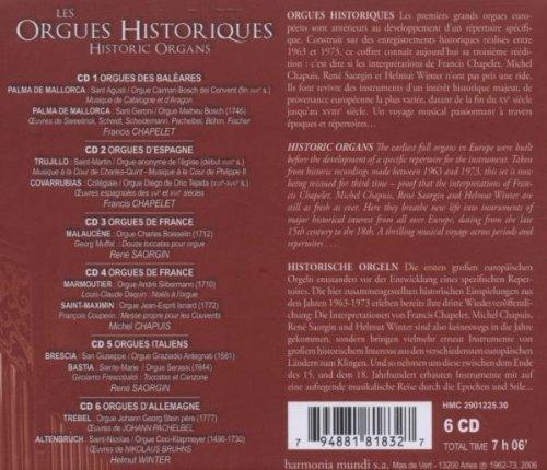 Historic Organs of Spain France Italy & Germany by Harmonia Mundi Fr.