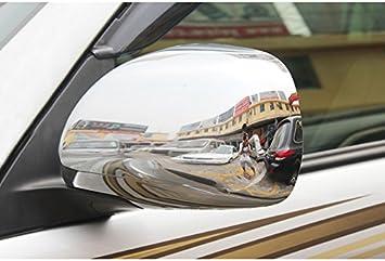 2pcs Rear Mirror Decoration Chrome  Cover Trims For Toyota PRADO FJ120 2003-2009