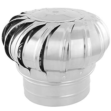 PrimeMatik - Sombrero Extractor de Humos galvanizado Giratorio para Tubo de 200 mm de diámetro: Amazon.es: Electrónica