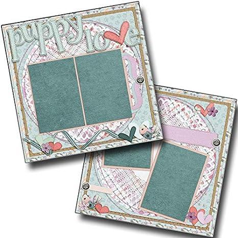 Premade Scrapbook Pages EZ Layout 4314 Puppy Love Pink