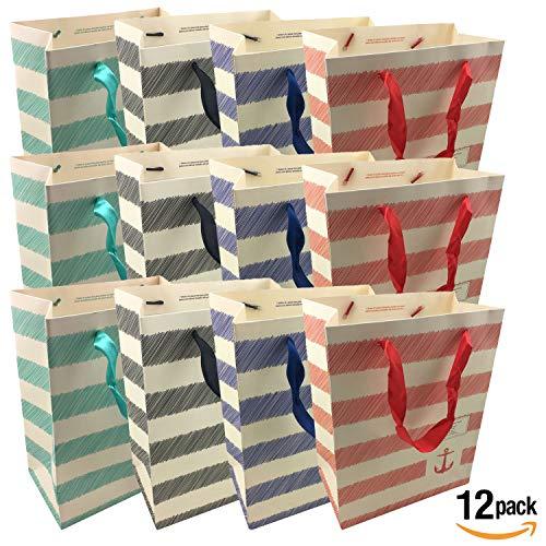 Luxury Gift Bags Medium - 12 pcs Shopping Paper Bag 9