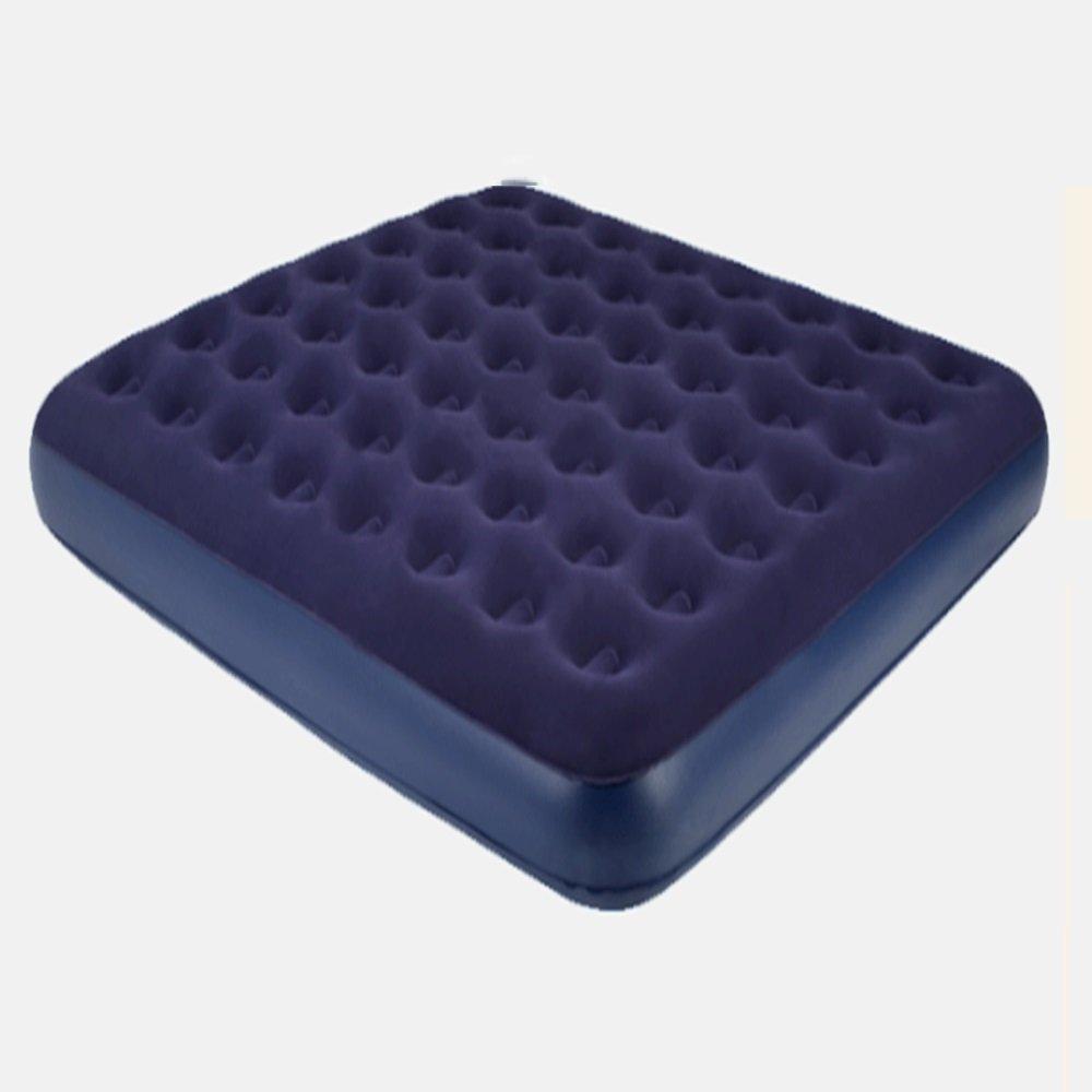 WYY Aufblasbares Bett HPLL Einzelnes doppeltes verdicktes aufblasbares Bett Haushalts-Zunahme-bequemes und weiches Luft-Bett beflockendes tragbares Luft-Bett im Freien