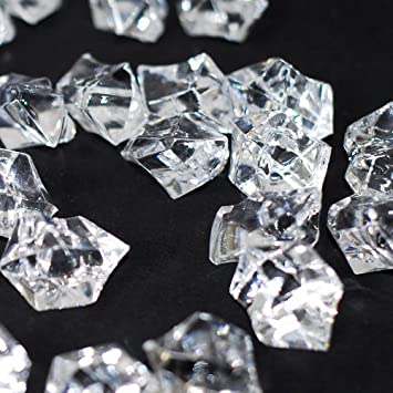 Amazon Acrylic Ice Rock Cubes 1 Lb Bag Vase Filler Or Table