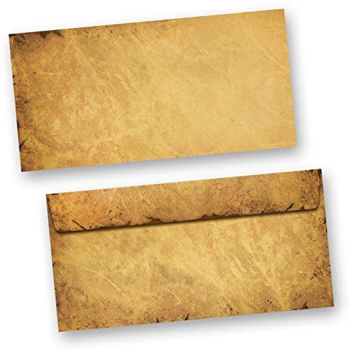 Briefumschläge CASANOVA (50 Stück o.F.) DIN lang Umschlag Mittelalter alt antik