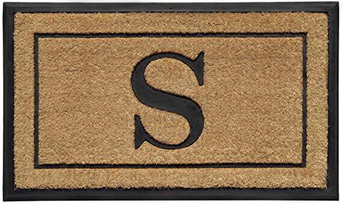 Fresh Home Elements 270011-034 Mat Monogram s Doormat Outdoor (Welcome Monogram Mat)