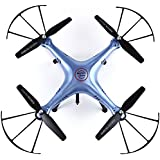 Headless Mode Quadcopter, Joso X5HW FPV 4CH RC Helicopter 6 Axis Drone with Hovering Function Barometer Set Height/ HD Camera 2.4G WIFI Remote Control/360 Degree Eversion 3D Rock Roll Spin (Blue)