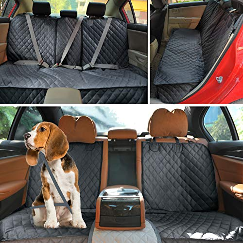 Henkelion Dog Seat Cover Back Seat Covers for Dogs,100% Waterproof Nonslip Beach Dog Car Seat Cover for Cars with Armrest Fits Cars Trusks SUVs Black by Henkelion (Image #4)
