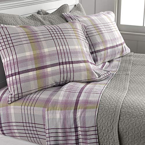 Orvis Highland Plaid Flannel Sheet Set, Duvet Cover, and Sham/Twin Sheet Set, Twin