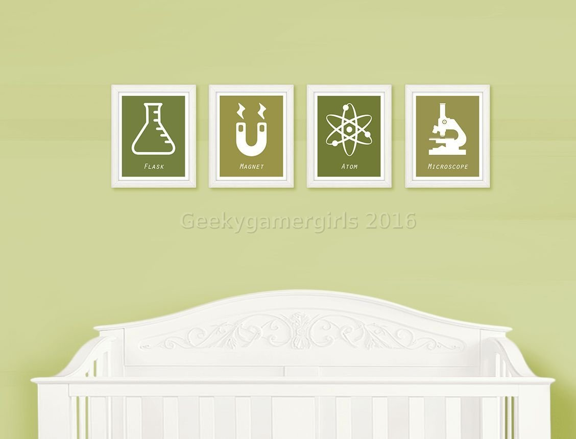 Amazon.com: Science Nursery | Geeky Nursery decor | Geeky kids room ...