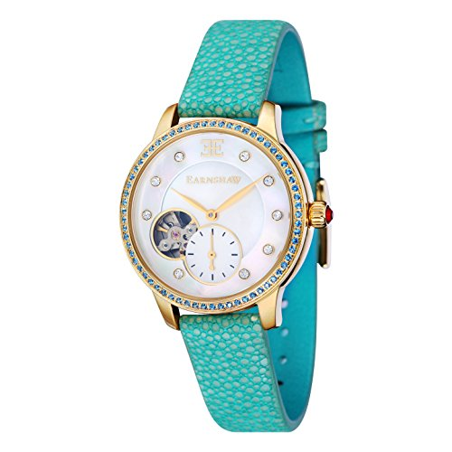Thomas Earnshaw Women's 'LADY' Automatic Stainless Steel Casual Watch, Color Blue (Model: ES-8029-07)