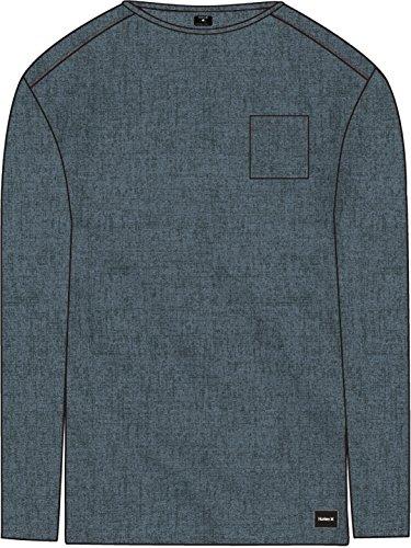Hurley Men's Dri-Fit Lagos Port Long Sleeve Celestial Teal XX-Large (Fit Cotton Dri Mens)