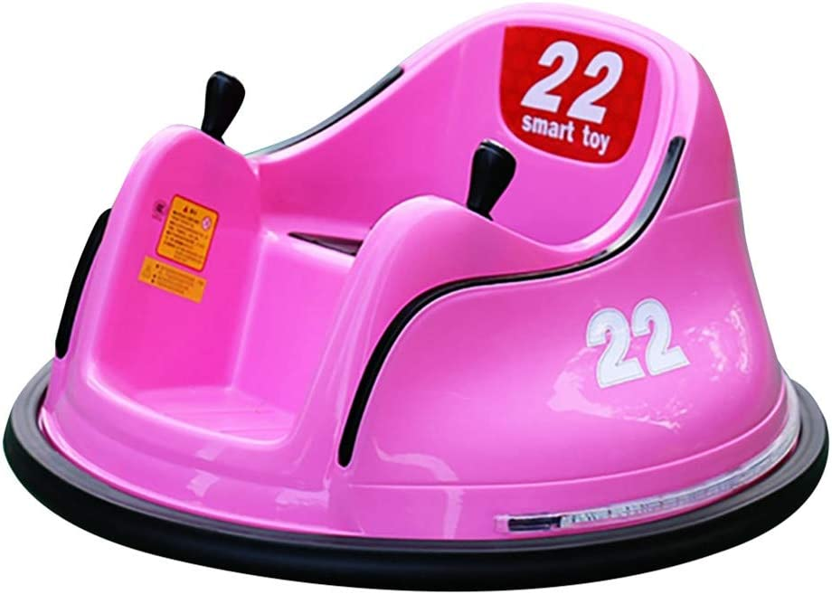 Kids Toy Electric Ride On Bumper Car Toy with Safety Belt Vehicle Remote Control 360 Spin for Toddlers Aged 1.5+ 6V Battery-Powered with Light ASTM-Certified (Pink)