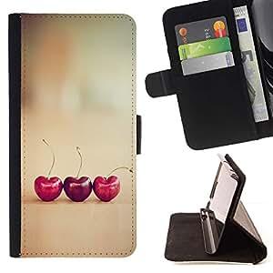 Momo Phone Case / Flip Funda de Cuero Case Cover - Coeurs Vignette minimaliste - Samsung ALPHA G850