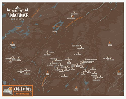 adirondack mountains poster