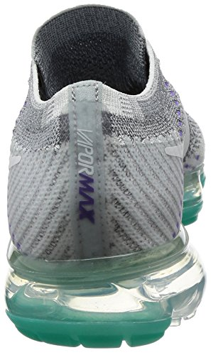 Nike Air Vapormax Sneaker Flyknit E Schuhe Neu Platino Cool Per Donna Grigio / Bianco Puro