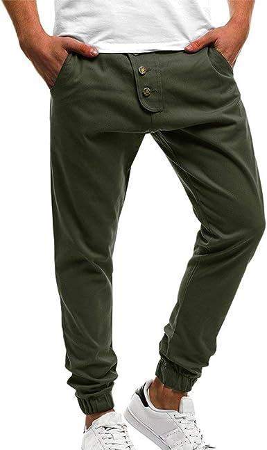 Pantalones De Harén De Esencial Hombres Los Pantalones De Algodón ...