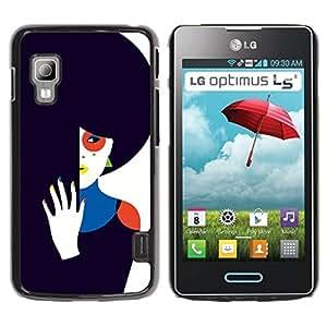 Paccase / SLIM PC / Aliminium Casa Carcasa Funda Case Cover para - Dark Sad Wife Unhappy Art - LG Optimus L5 II Dual E455 E460