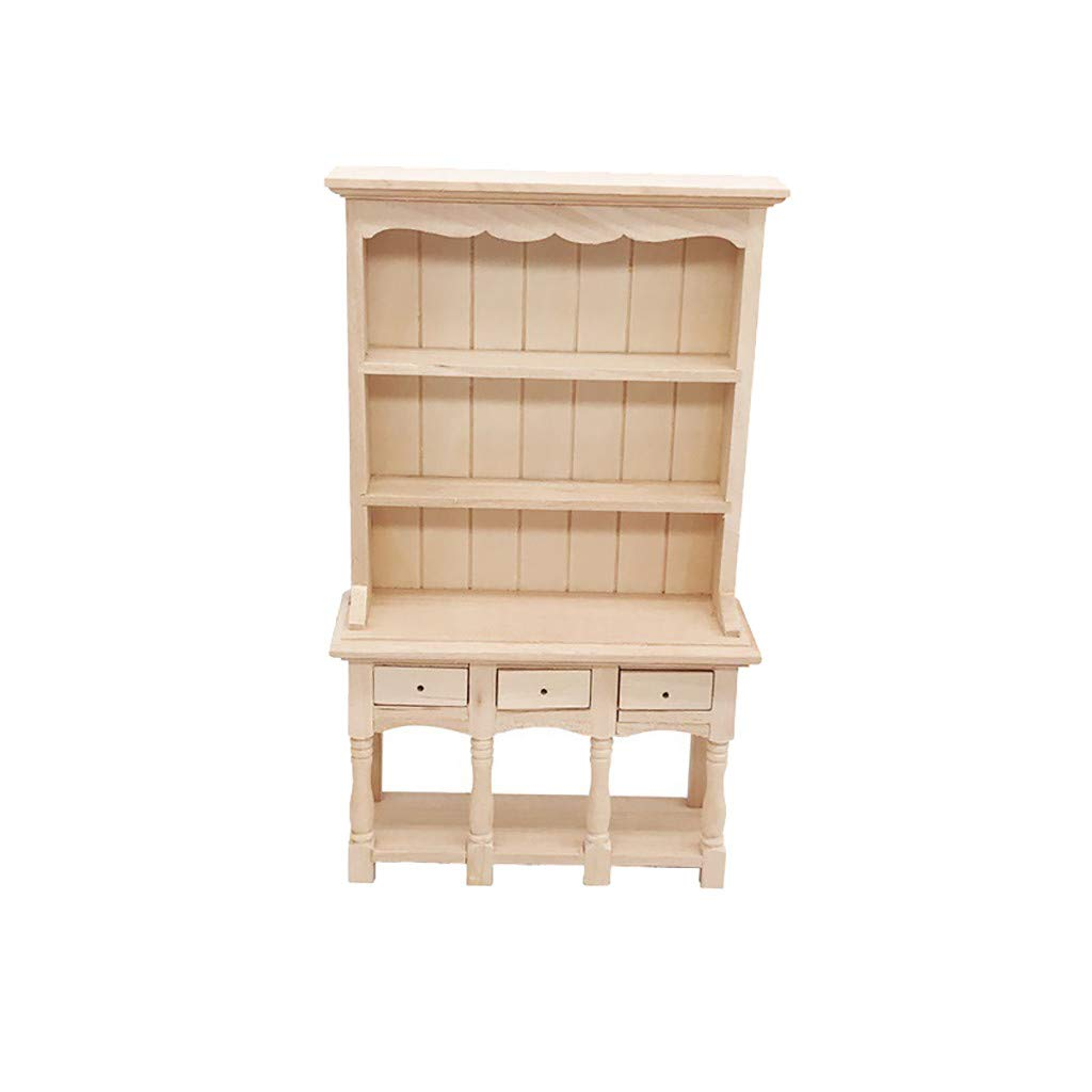 Vibola Dollhouse Furniture Accessories,1/12 Scale Miniature Bookcase Cabinet Suitable for Living Room Pretend Play Dollhouse Toy